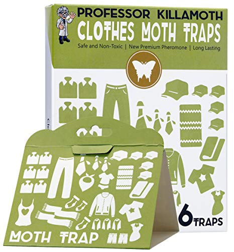 Clothes Moth Traps 6 Pack | No insecticides | Child and Pet Safe | Advanced Attractant | Protect Your Clothes, Wool, Sweaters, Carpet | The Safe Moth Killer