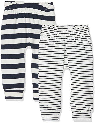 Name It Nbmdango 2p SWE Pant Pantalon, Multicolore (Snow White), 68 (Lot de 2) Bébé garçon