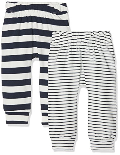 Name It Nbmdango 2p SWE Pant Pantalon, Multicolore (Snow White), 68 (Lot de 2 Bébé garçon