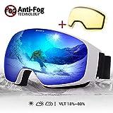 Avoalre Snow Ski Goggles for Men Women, Anti Fog UV400 Snowboard Goggles with Dual Layers Lens, Helmet...