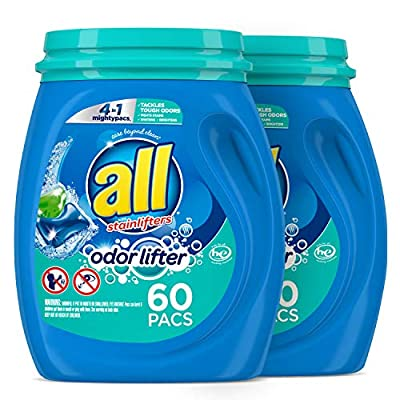 All Mighty Pacs Laundry Detergent 4 in 1 with Odor Lifter