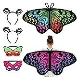 SUSSURRO 6 alas de mariposa para niños con alas de mariposa, para disfraz de Halloween