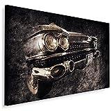 Muralo Cuadro en lienzo de 120 x 80 cm, diseño de coche vintage americano, impresión artística para dormitorio o sala de estar, diseño XXL, 120 x 80 cm
