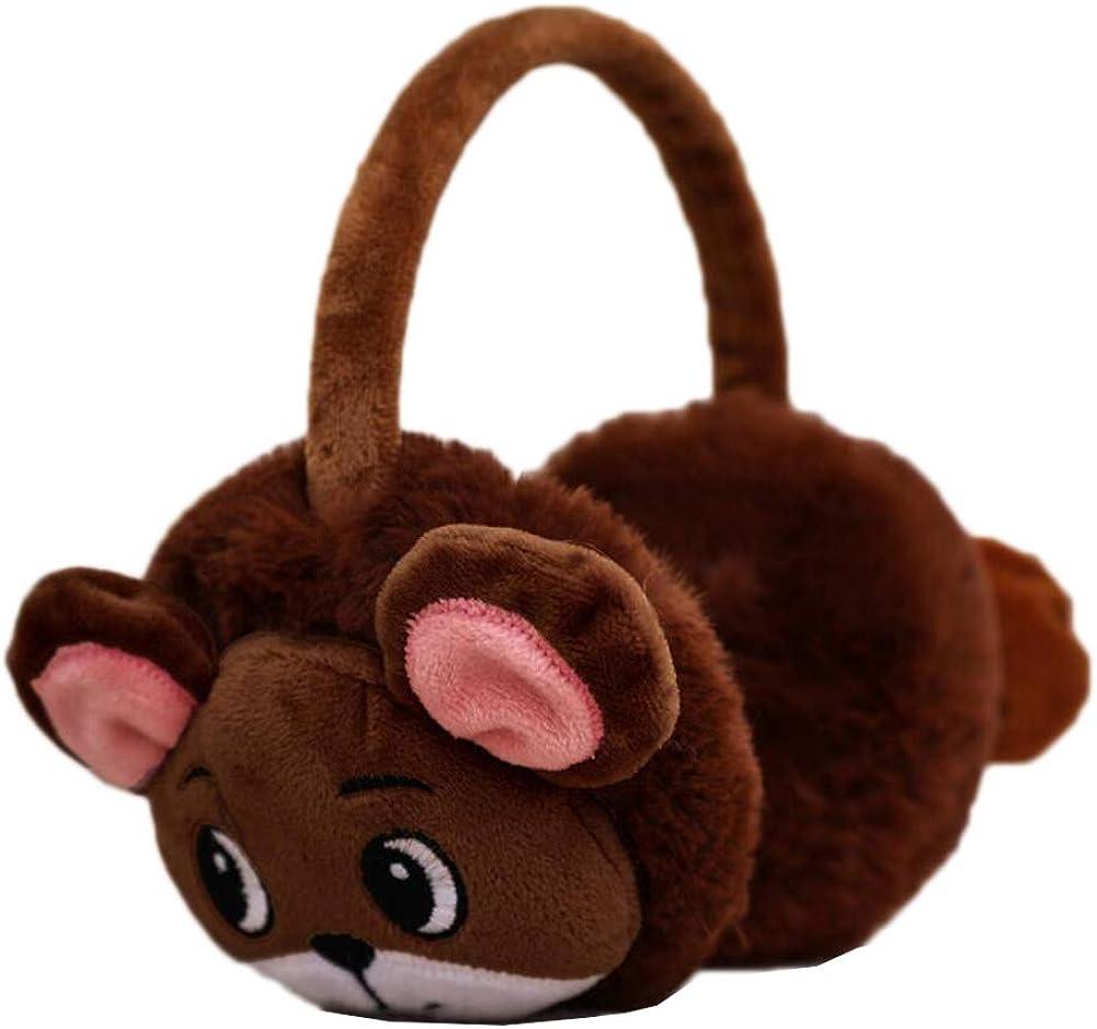 Cute Animal Soft Earmuffs Winter Warm Outdoor Ear Covers Headband Fur Ear warmer,#C18