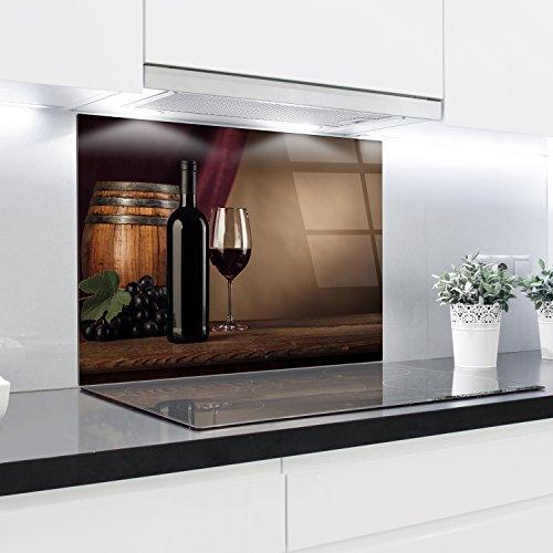 Crédence en verre trempé résistant à la chaleur renforcé décoratifs – 90 x 65 cm – 4 mm d'épaisseur – Parfait Derrière à gaz, EN CÉRAMIQUE et à induction – Facile à nettoyer et à suspendre