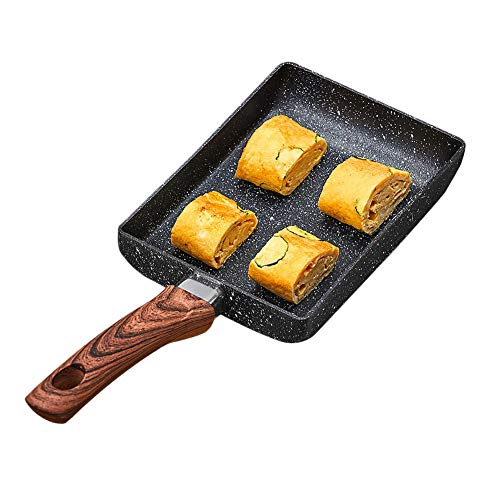 """Ytzada Egg Omelette Frying Pan, Tamagoyaki Japanese Non-stick Coating Skillet Rectangular Small Fry Pan Gas Stove and Induction Hob Compatible 7.7"""" x 6.6"""""""