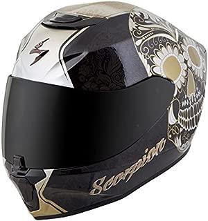 Scorpion EXO-R420 Full-Face Helmet Sugarskull Black/Gold! X-Large (More Size Options)