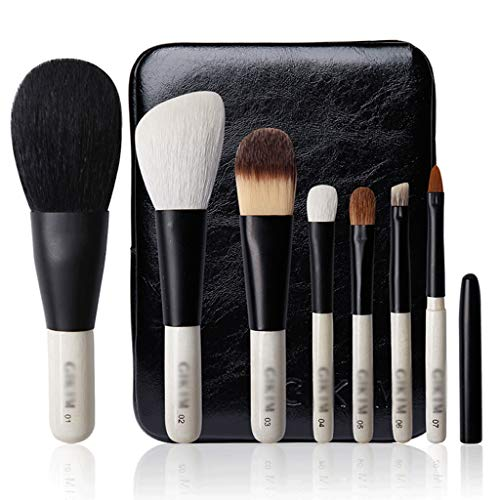 Make-up borstels 7-delige make-up borstel set premium synthetische Kabuki Foundation mengen gezicht poeder minerale oogschaduw make-up borstels set Kleur: wit
