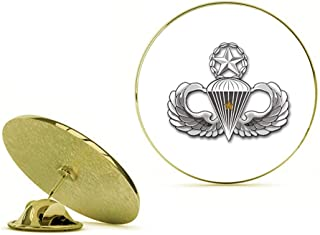 HOF Trading Gold US Army Master 1 Combat Jump Wings Gold Lapel Pin Tie Suit Shirt Pinback