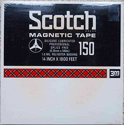 Scotch 150 Reel to Reel Magnetic Tape 7 Inch Reel 1800 Feet x 1/4 Inch Low Noise Recordable Tape