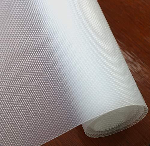Hersvin 60cmx500cm Plastico Protector para Cocina Cajones, Alfombras Non Adhesivo para Nevera Mueble Fregadero Estante Organizador Cubiertos EVA Cubre Encimera(Transparente Diamante)