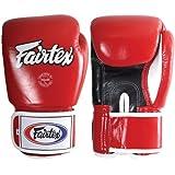 Fairtex Muay Thai Style Training Sparring Gloves, 18 oz, Red