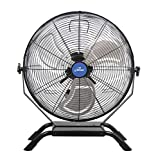 iLIVING Wall Mounted/Floor Stand Variable 20 Inches Speed Indoor/Outdoor Weatherproof Fan, Industrial grade for Patio, Greenhouse, Garage, Workshop, and Loading Dock, 4650 CFM, Black