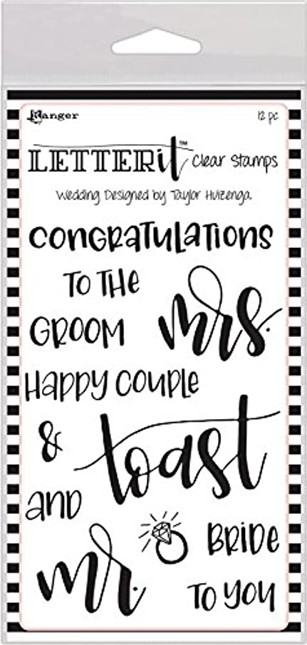 Ranger Wedding Letter It Clear Stamp Set 4