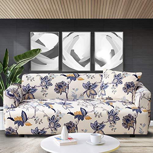 Funda de sofá elástica con Estampado Floral, Fundas de sofá, Fundas de sofá para Sala de Estar, sofá de Esquina, Toalla, Funda de sofá A15, 3 plazas