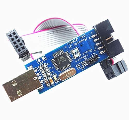 10Sets / lot USBASP USBISP AVR Programmierer 3.3V / 5V USB ISP USB ASP ATMEGA8 ATMEGA128 ATtiny/CAN/PWM + 10Pin Draht Unterstützung Win7 64Bit