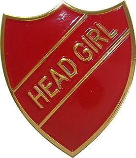 Head Girl badge Taille plus grande 33mm x 30mm Livraison gratuite