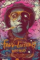 ラスベガスをやっつけろクラシック映画アート絵画アートポスタープリントキャンバス家の装飾写真ウォールプリント-50x75CMフレームレス