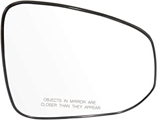 Burco 4518B Driver Side Replacement Mirror Glass with Lasered Holes to use with Factory Blind Spot Detector for 2013-2016 TOYOTA RAV4