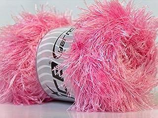 LG 100 gram Pink Eyelash Yarn Ice Fun Fur 164 Yards