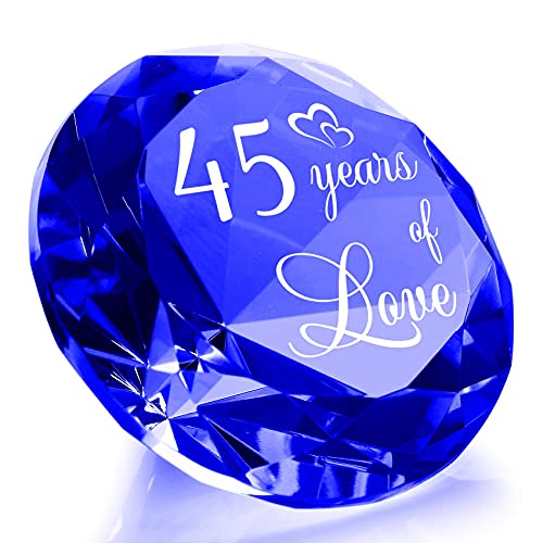 YWHL 45th Wedding Anniversary Sapphire Gift for Couple, 45 Years of...