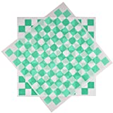 Deli Squares - Paper Sheets (12' x 12') (Checkered Green - 250 Sheets)