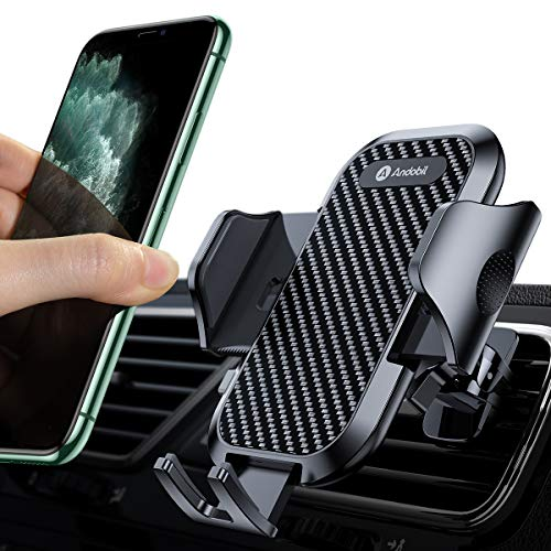 andobil Car Phone Mount Ultimate Smartphone Car Air Vent Holder Easy Clamp Cradle Hands-Free Compatible with iPhone 11/11 Pro/11 Pro Max/8 Plus/8/X/XR/XS/SE Samsung Galaxy S20/S20+/S10/S9/S8/Note 10