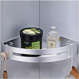 Étagère d'angle Douche Salle de bains douche étagère rack avec crochets Drilling bain Rangement Porte Organisateur coin ét...