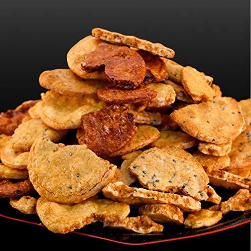 訳あり 無選別 割れ醤油せんべい3種1kg(500g×2パック) 煎餅 醤油 わけ ワケ われ (ln)