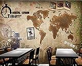 Estéreo 3D MuralPapel Tapiz 3D Mapa Del Mundo Mural Papel De Parede Pared De Papel Tapiz 3D Habitación 3 D Tv Set Foto Pared Pintura Papel Tapiz @ 350 * 245