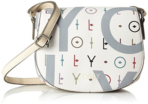 Oilily Damen Jolly Letters Shoulderbag Shf Schultertasche Weiß (Offwhite)