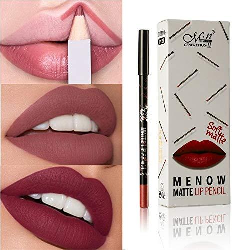 12 Farben Professionelle Lippenstift Lipliner Make-Up Wasserdichte Matte Lip Liner Bleistift Set (12...