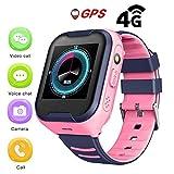 Montre GPS Pour Enfants,IPX7 Etanche 4G Enfants Montre Intelligente GPS Pour IOS...