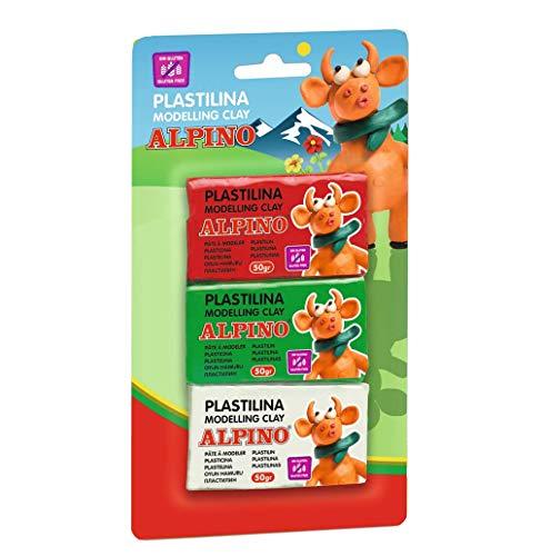 Alpino DP000116 - Blister 3 unidades de plastilina