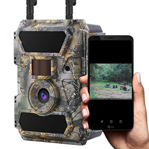 WILDAGENT - 4G LTE Wildkamera (ohne Simlock) Handy Bildübertragung Full-HD Videos Überwachungskamera