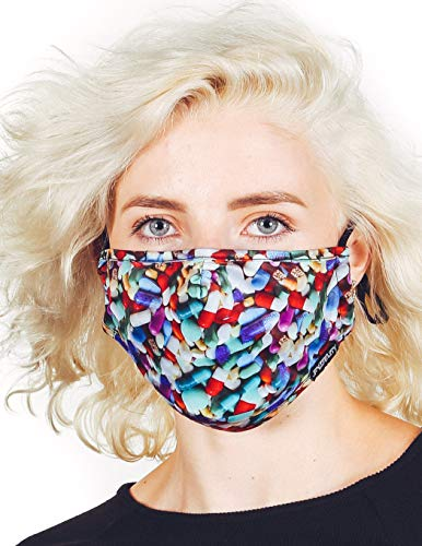 Fydelity-Breathable Face Mask Comfortable Fabric Cover Reusable:Little Pills