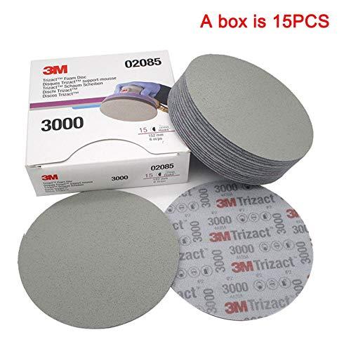 Learn More About Xucus 6 Inch 152mm Dry Wet Sponge Sandpaper Disc Back Velvet Abrasive Tools For Gri...