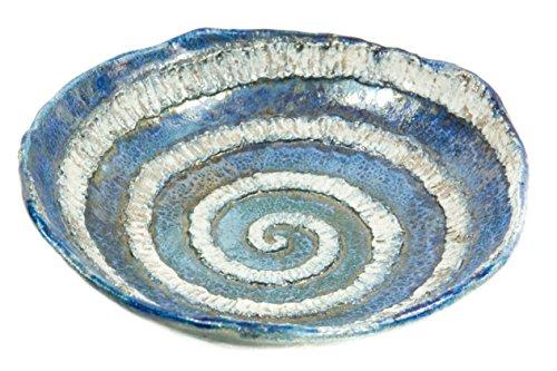 Materiales cerámicos liberados-Cuenco cerámica, raku plano de mano
