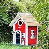 ZANGAO Dinamarca Copenhague la casa del pájaro del pájaro Salvaje Nido del hogar Patio Decoración al Aire Libre Creativo Protección de Entrada al depósito de Madera (Color : Natural)