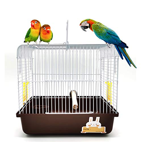 Gifty 鳥かご ケージ とまり木付き 小鳥 移動用 おでかけ キャリー 文鳥 インコ バードケージ 避難 病院 Mサイズ