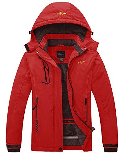 Wantdo Women's Waterproof Warm Ski Jacket Winter Coat Bright Red Small