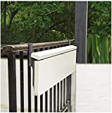 yxx Mesa Colgante Flotante Blanca, Moderno Oficina del hogar Loft Loft Counter Wall Escritorio de Escritura, balcón barandilla de aleación de Aluminio Mesa Plegable
