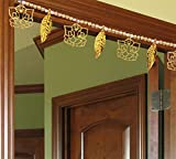 Ascension ® Golden Ganesh ji Leaf Pearl Traditional Subh Labh Art Handmade Door Bandarwal toran for Home Door Home Décor Hangings Decoration Set of 1