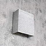 Moderne Wandlampe ALICE Grau Stoff Schirm E27 eckig Loft Design Wandleuchte Wohnzimmer Flur