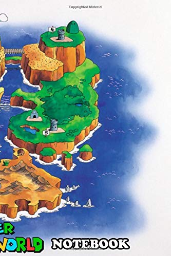 Notebook: Super Mario World Map , Journal for Writing, College Ruled Size 6' x 9', 110 Pages