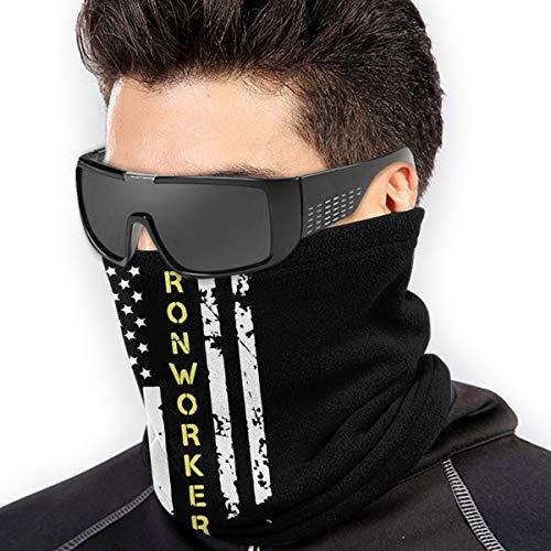 Ironworker American flag Men Women Cold Weather Neck Gaiter Tube Face Mask