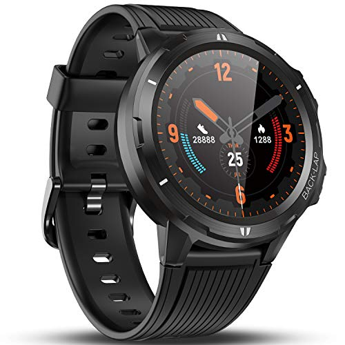 Vigorun Smart Watch for Men Women, Fitness Watch Fitness Tracker, Pedometer, Heart Rate Monitor, Sleep Tracker, 14 Days Battery Life, 1.3'' Full Touch Screen, 5ATM Waterproof Activity Tracker Black