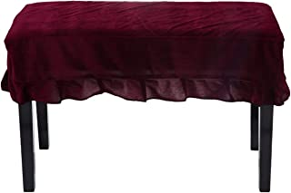 Timiy Universal Piano Stool Chair Bench Cover or Piano Dual Seat Bench(Deep Red)