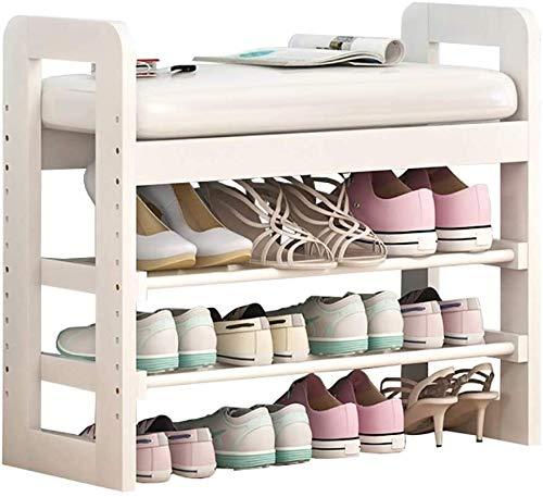Wddwarmhome Zapato de bambú Hogar Casa Multifunción Zapato Taburete Sólido Sofá Sofá Taburete, Ajuste de Altura (Color : C)