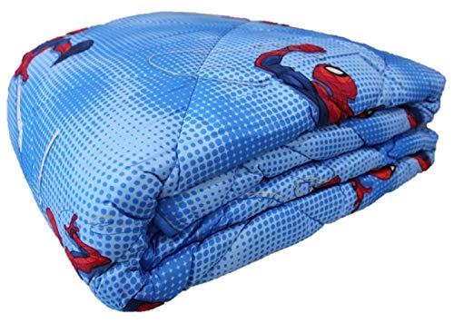 Viterbo Biancheria Trapunta Piumone Invernale Disney Letto Singolo Una Piazza 170x250CM (Spiderman)